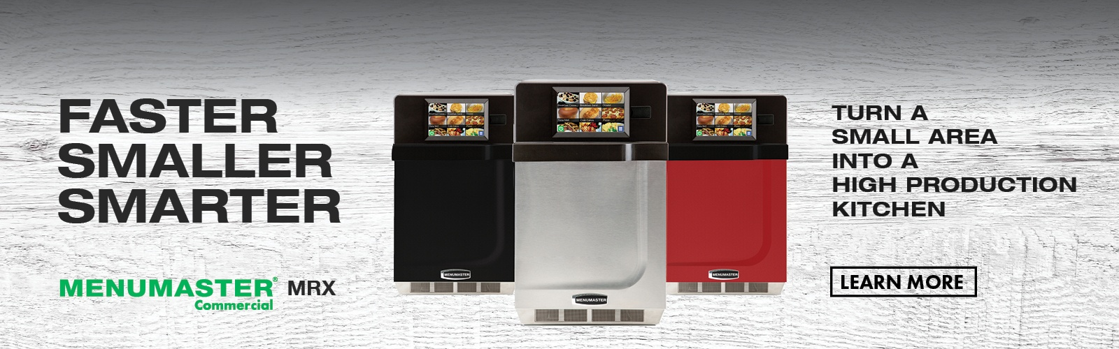 Introducing the Menumaster MRX Xpress IQ™: the smallest, fastest and smartest speed oven on offer
